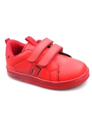 Cool Erkek-Kız Çocuk Günlük Sneaker Spor Ayakkabı Kırmızı